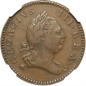 "1773 VIRGINIA ""1P"" PF obverse"