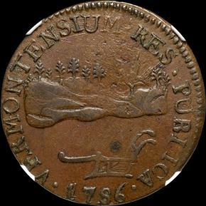 1786 LANDSCAPE VERMONT MS obverse