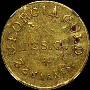 (1837-42) C.BECHTLER 128G, 22C, RUTHERF $5 MS obverse