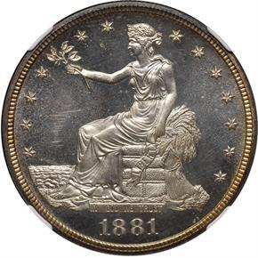 1881 T$1 PF obverse