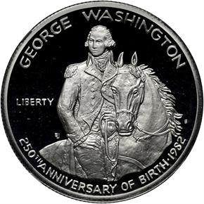 1982 S WASHINGTON 50C PF obverse