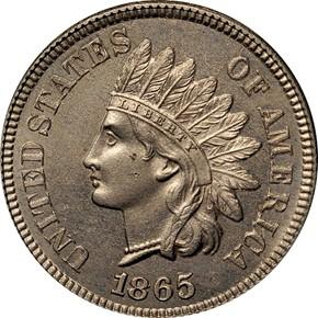 1865 J-406 1C PF obverse
