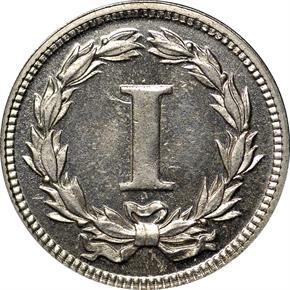 1869 J-666 1C PF reverse