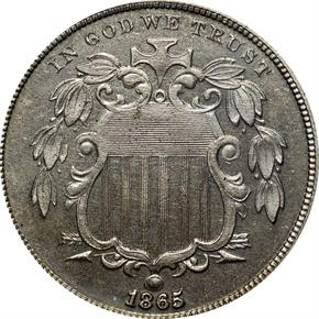 1865 J-416 5C PF obverse