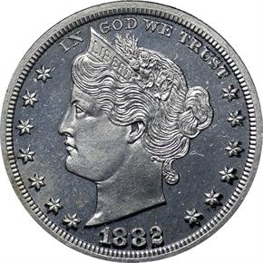 1882 J-1689 5C PF obverse