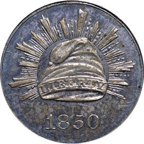 1850 J-125 3CS PF obverse