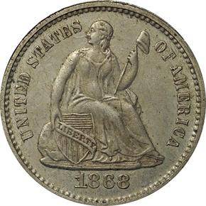 1868 J-638 H10C PF obverse