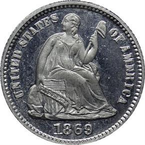 1869 J-693 H10C PF obverse