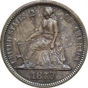 1870 J-826 10C PF obverse