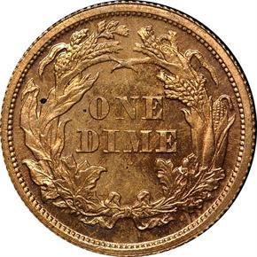 1870 J-833 10C PF reverse