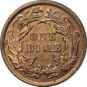 1870 J-834 10C PF reverse