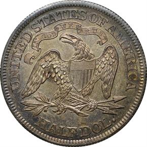 1863 J-342 50C PF reverse
