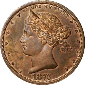 1876 J-1465 S$1 PF obverse
