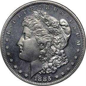 1885 J-1749 S$1 PF obverse