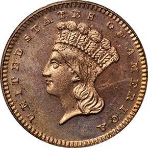 1865 J-438 G$1 PF obverse