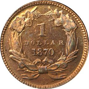 1870 J-1023 G$1 PF reverse