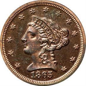 1865 J-439 $2.5 PF obverse