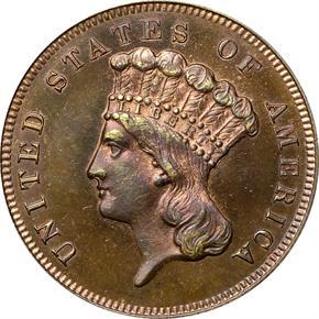 1870 J-1029 $3 PF obverse