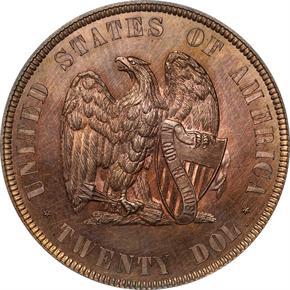 1872 J-1251 $20 PF reverse