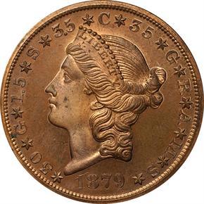1879 J-1644 $20 PF obverse