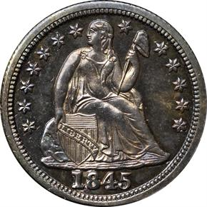 1845 10C PF obverse
