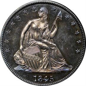 1845 50C PF obverse