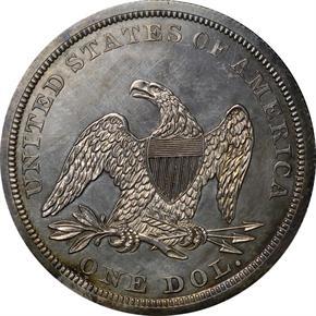1845 S$1 PF reverse