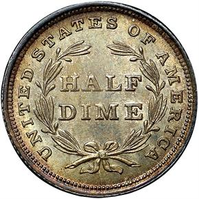 1837 SEATED H10C MS reverse