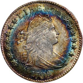 1798/7 16 STARS REV JR-1 10C MS obverse