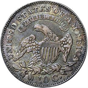 1828 LARGE DATE JR-2 10C MS reverse