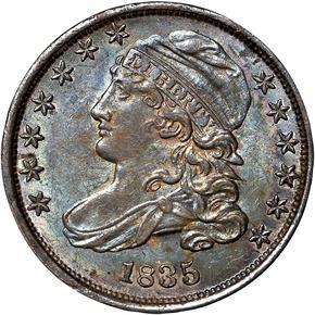 1835 10C MS obverse