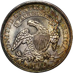 1837 CAPPED 10C MS reverse
