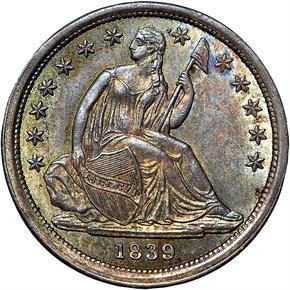 1839 10C MS obverse