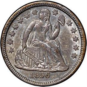 1856 O 10C MS obverse