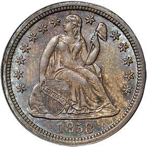 1858 10C MS obverse