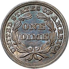 1858 10C MS reverse