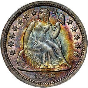 1859 10C MS obverse