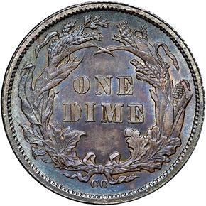 1877 CC 10C MS reverse