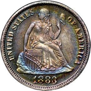 1883 10C PF obverse
