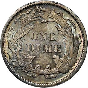 1890 10C MS reverse