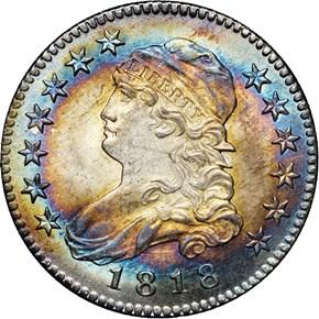 1818 25C MS obverse