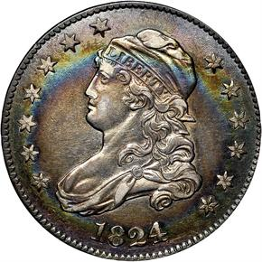 1824/2 B-1 25C MS obverse