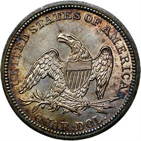 1840 DRAPERY 25C MS reverse