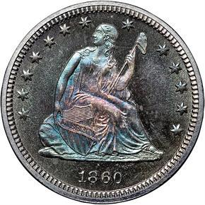 1860 25C PF obverse