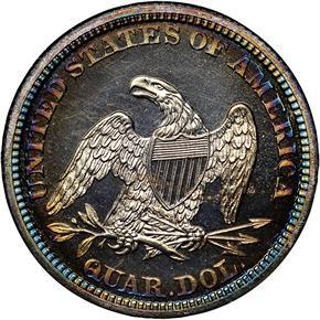 1861 25C PF reverse