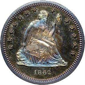 1862 25C PF obverse