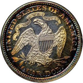 1866 MOTTO 25C PF reverse
