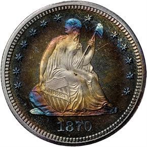 1870 25C PF obverse