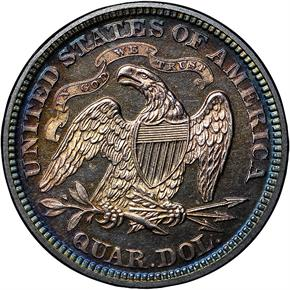 1874 ARROWS 25C PF reverse