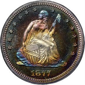 1877 25C PF obverse